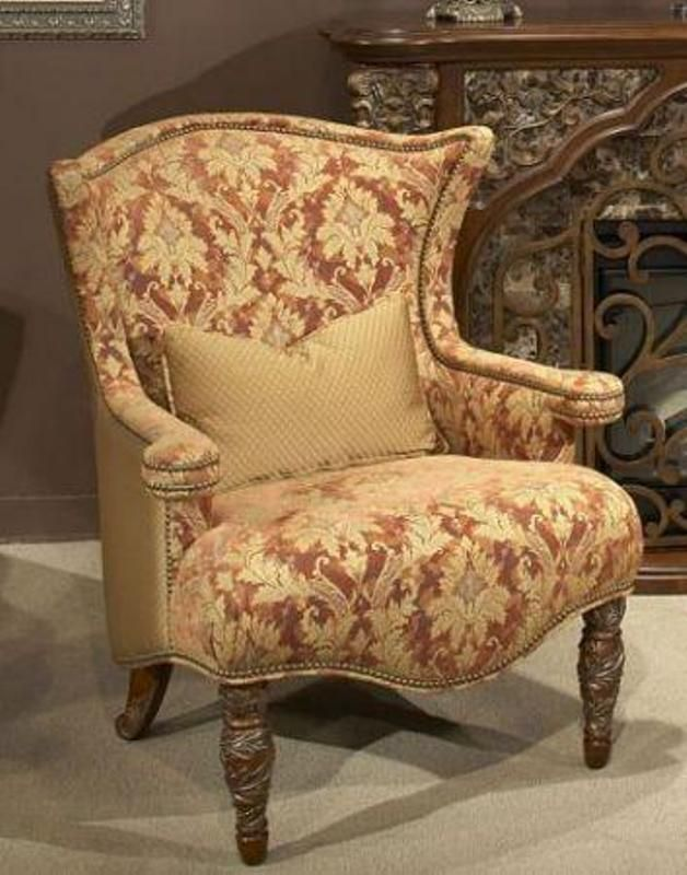 Aico Furniture Villa Valencia Upholstered Wing Chair Brick Furniture Aico Furniture Paint Colors For Living Room