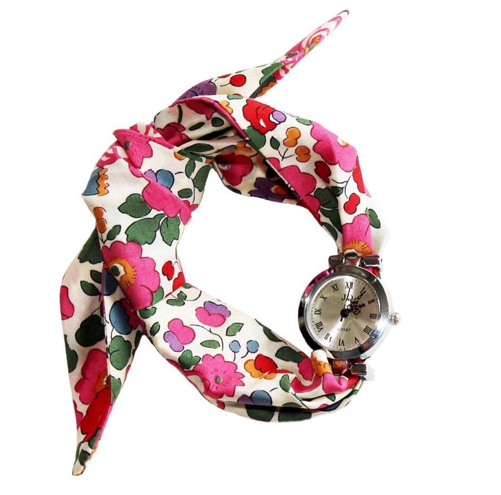 Funky Clock Print  Scarf Black and White Quirky Print Ladies Scarf UK Seller