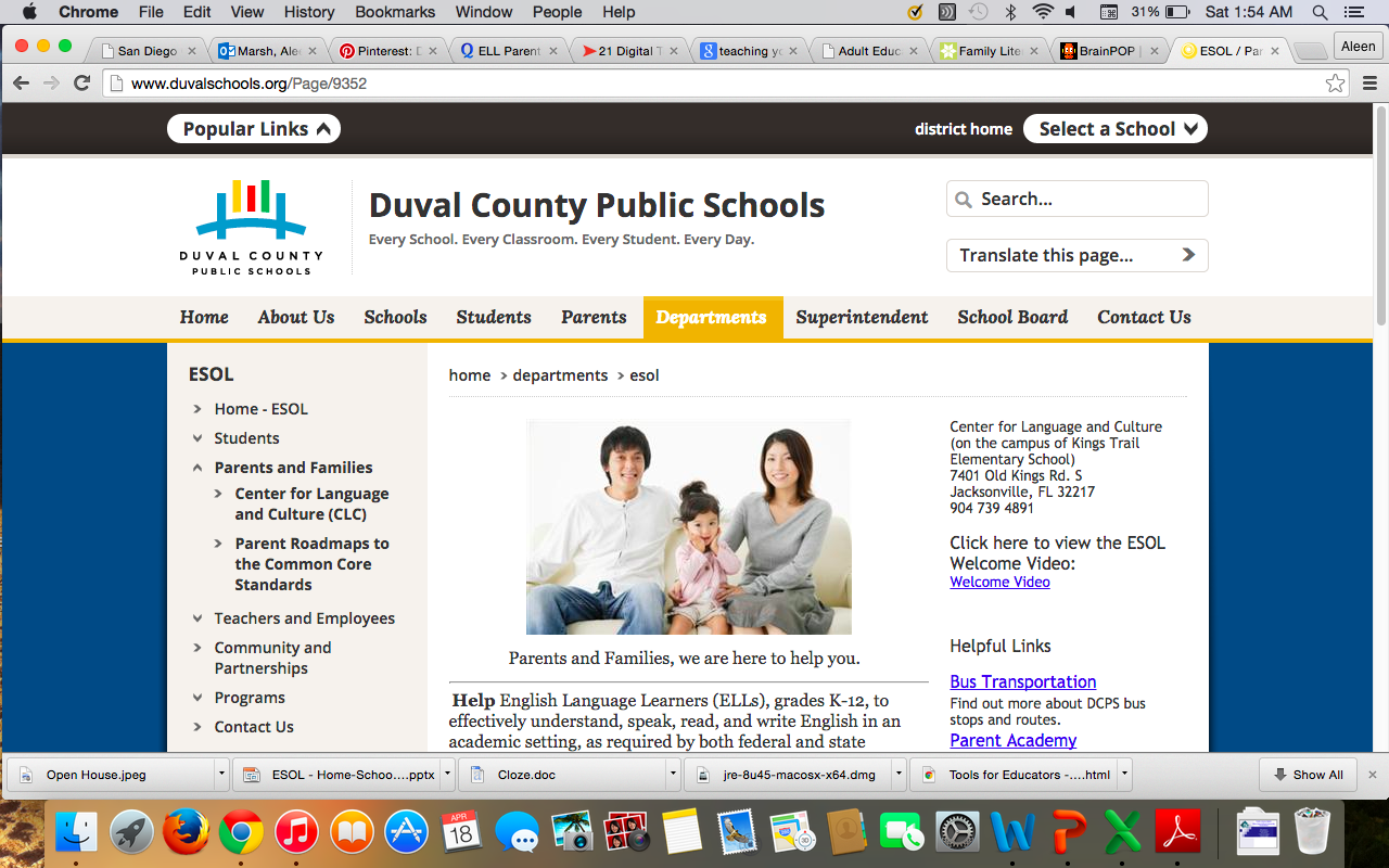 Duval County Public Schools Ell Families Page