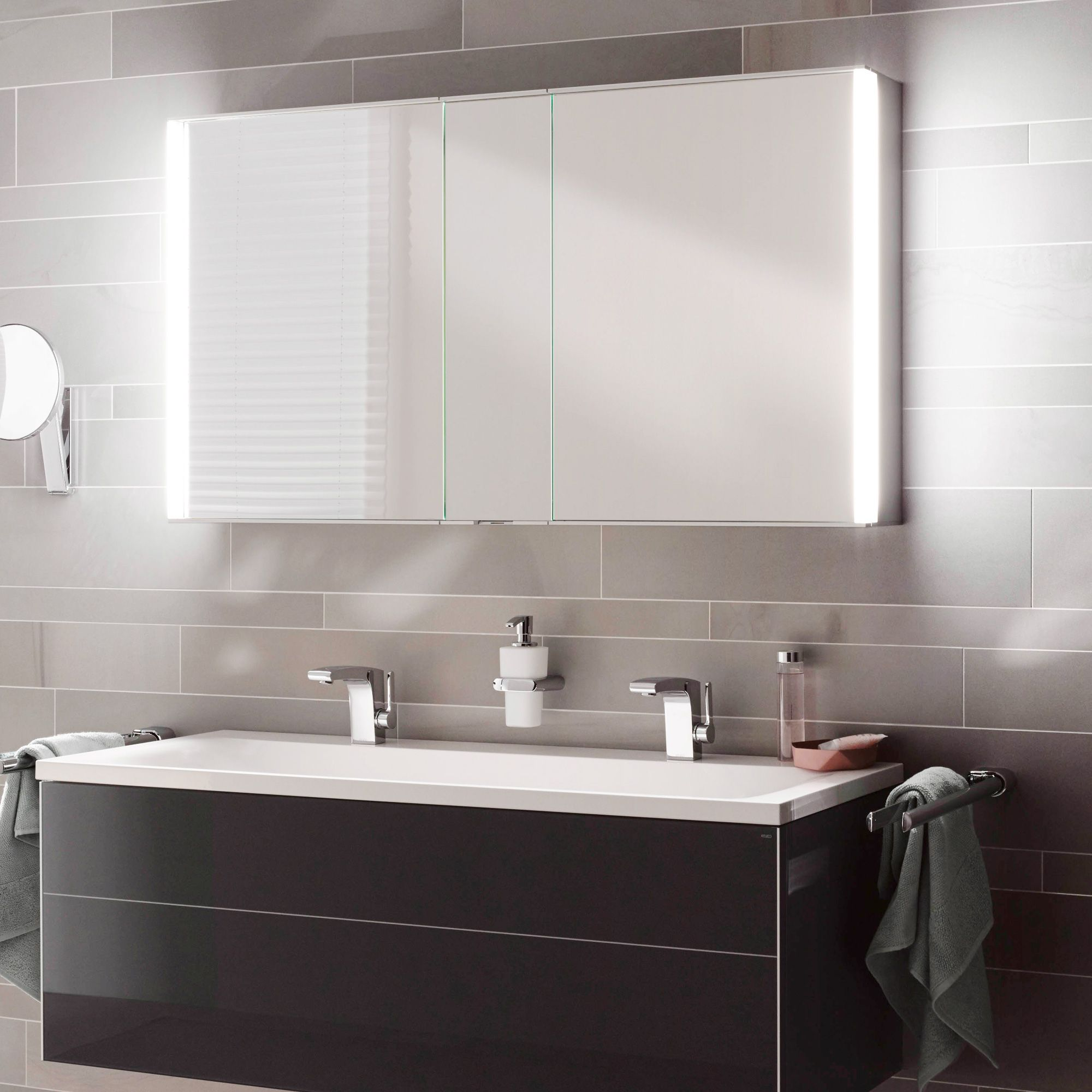 Keuco Royal Match Mirror Cabinet With Led Lighting 12805171301 In 2020 Mirror Cabinets Mirror Bathroom Mirror