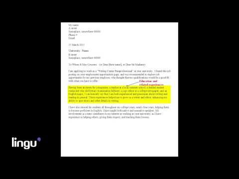 In this video, we\u0027re going to be talking about what makes a good - cover letter for employment