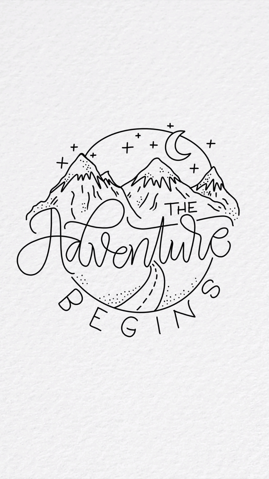 The adventure begins – iPad writing on Procreate