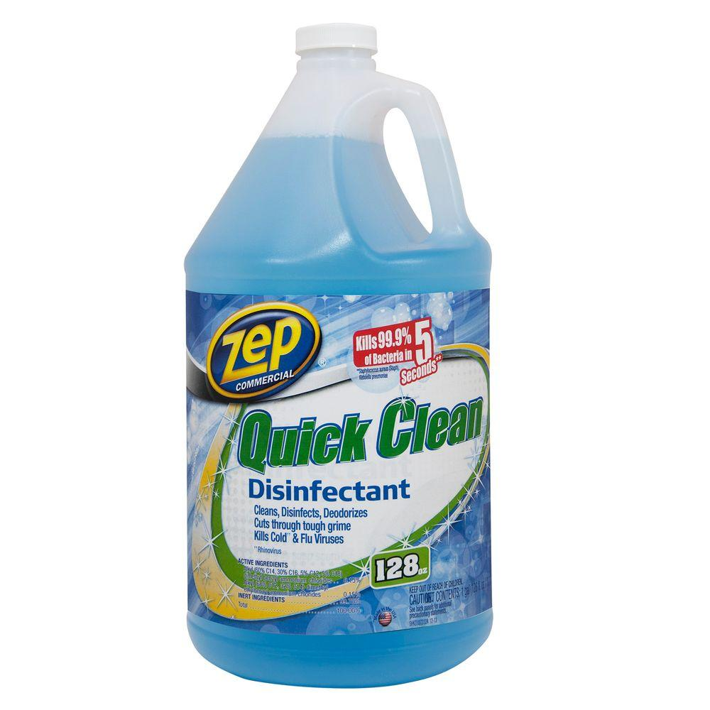 Zep 1 Gallon Quick Clean Disinfectant Case Of 4 Zuqcd128 The Home Depot In 2020 Quick Cleaning Cleaning Disinfect