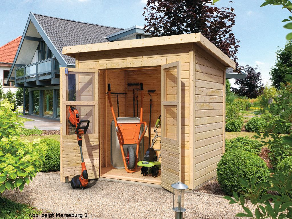 karibu gartenhaus ger tehaus merseburg 4 eco 14 mm naturbelassen pinterest gartenh user. Black Bedroom Furniture Sets. Home Design Ideas