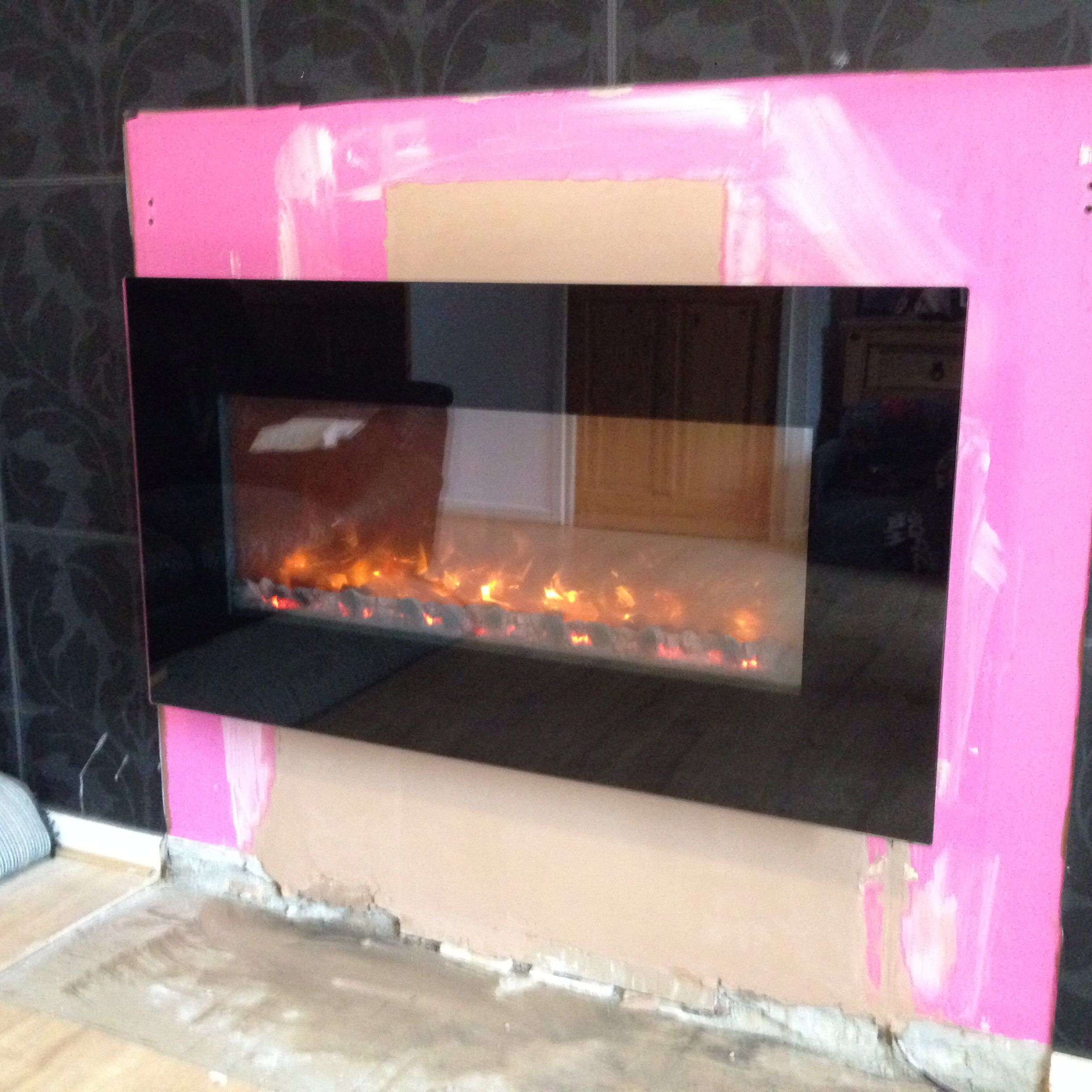 lovely celsi electric fire installed today hole in the wall fires