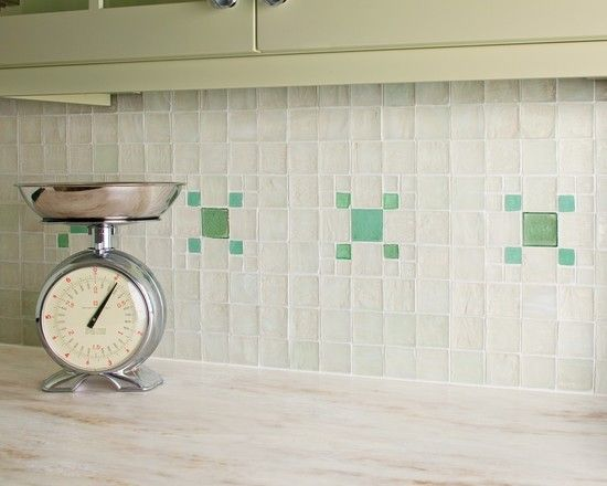 Recycled Bottleglass Kitchen Backsplash