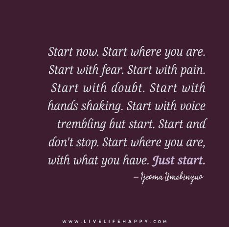 Image result for start where you are with what you have