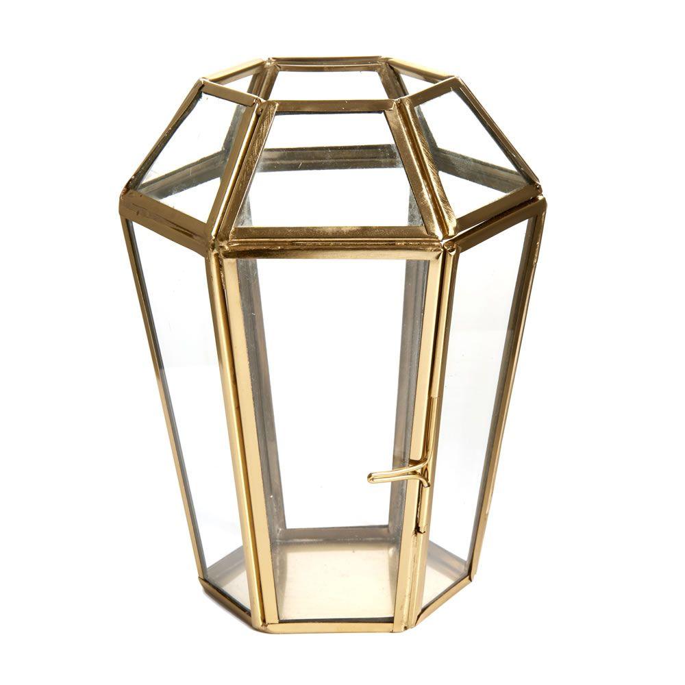 Wilko Garden Ornament Terrarium Gold Small | Home: Rooms | Pinterest