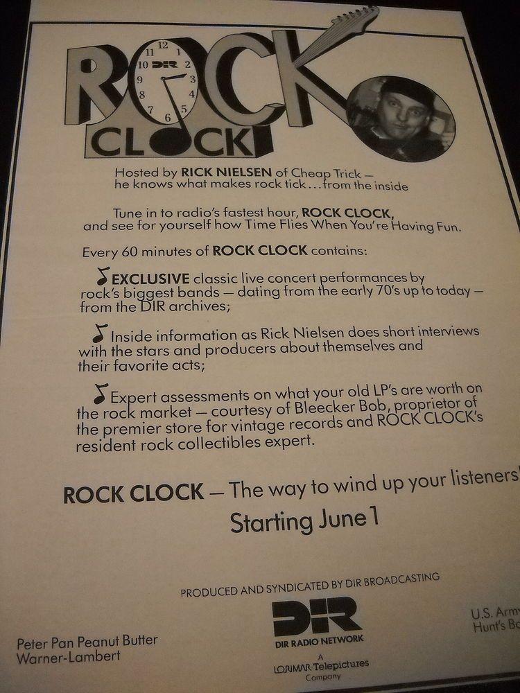 CHEAP TRICK Rick Nielsen 1987 ROCK CLOCK Promo Display Ad