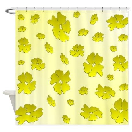 Falling Yellow Flowers Shower Curtain Yellow Flowers Curtains