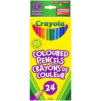 Crayola Crayons De Couleurs En Bois Paquet De 24 8 99 Achetez