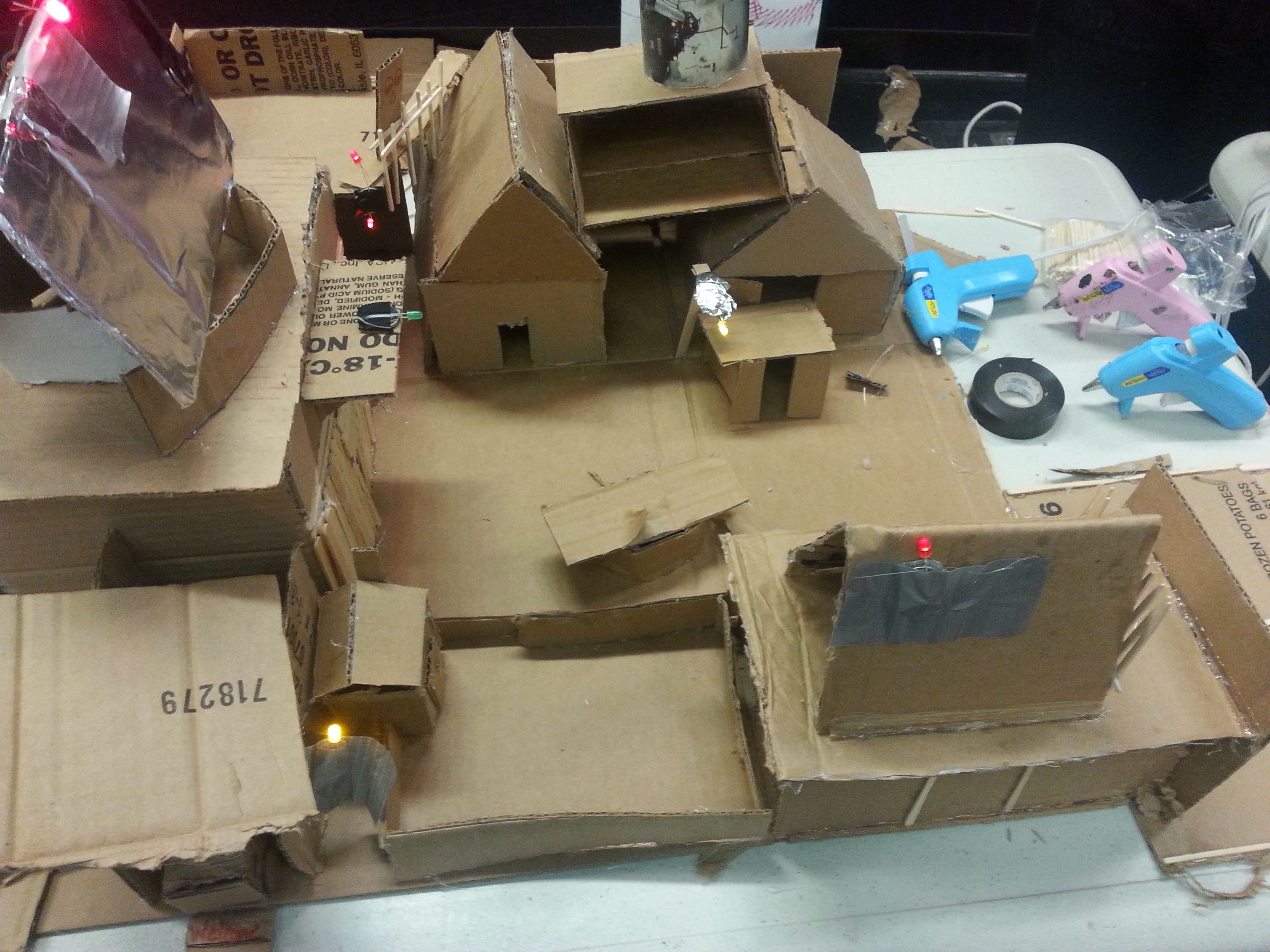 community cardboard city make