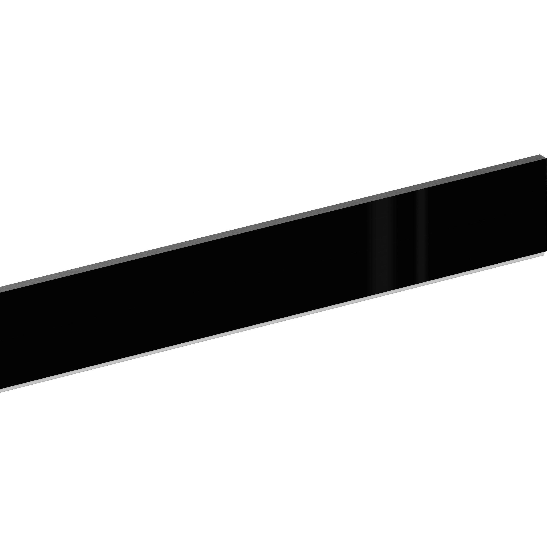 Plinthe Noir Delinia Id H 10 X L 2 4 M X Ep 13 Mm Plinthes