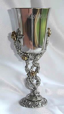Rose Pewter Goblet