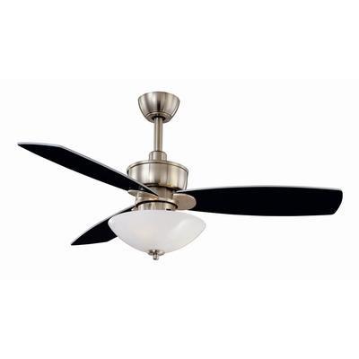139 Hampton Bay Spoleto Ceiling Fan In Brushed Nickel Finish