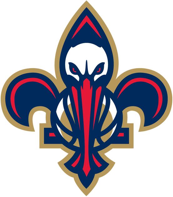 New Orleans Pelicans Alternate Logo 2014 The Bird De Lis