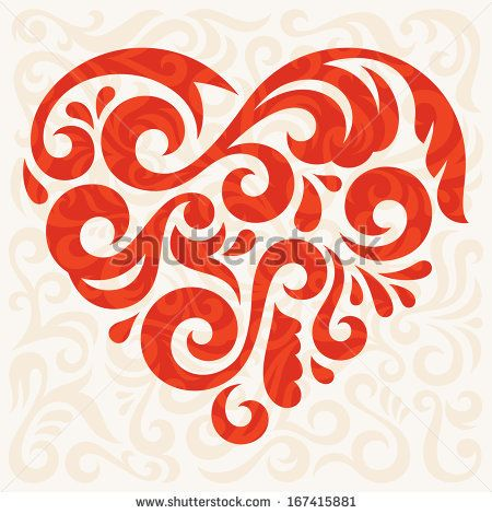 Greeting card template with abstract heart, vector illustration by - greeting card template