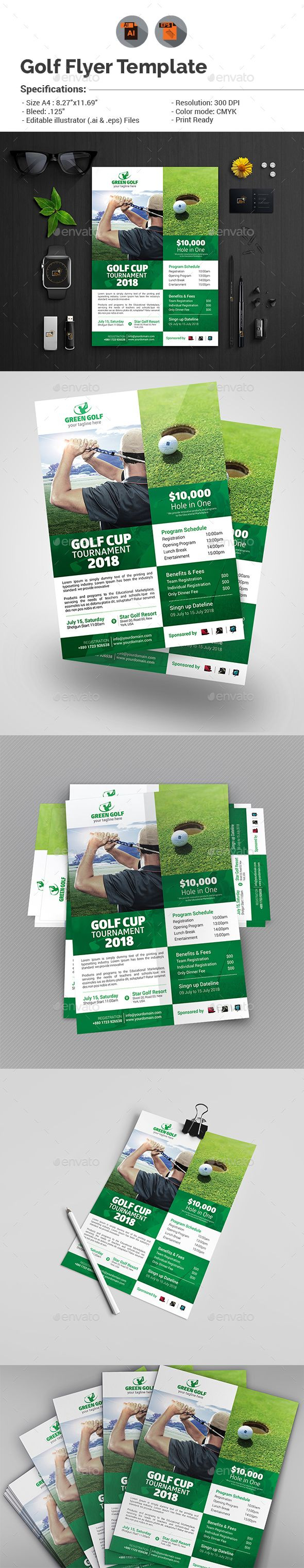 Golf Flyer Template V9 Flyer Template Golf And Template