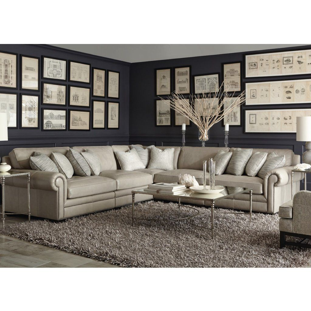 Grandview Leather Sectional By Bernhardt Modular Sectional Leather Sectional Sectional