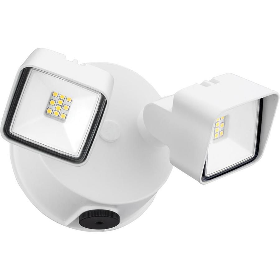 Lithonia Lighting 100 Watt Eq White Integrated Led Dusk To Dawn Floodlight Ovflled2sh40k120pewh In 2020 Lithonia Lighting Dusk To Dawn Commercial Lighting