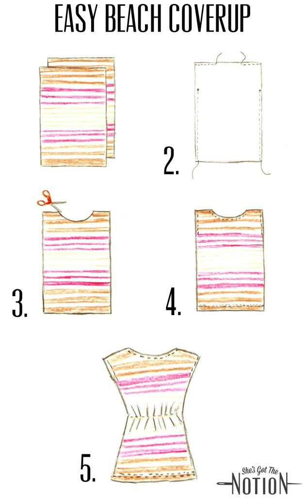 Easy Beach Cover-Up: sewing tutorial | She\'s Got the Notion | wraps ...