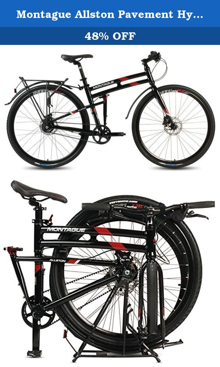 Montague Allston Pavement Hybrid Folding Bike, Gloss Black/Red (700c ...