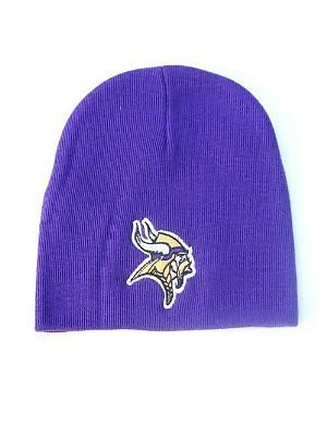 Minnesota Vikings Cuffless Knit Hat Visit our website for more: www.thesportszoneri.com