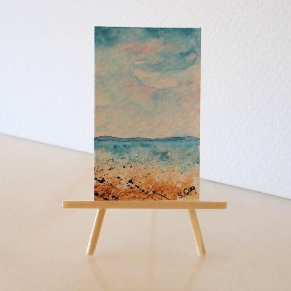 Ocean Seascape /& Beach Miniature Dollhouse Picture