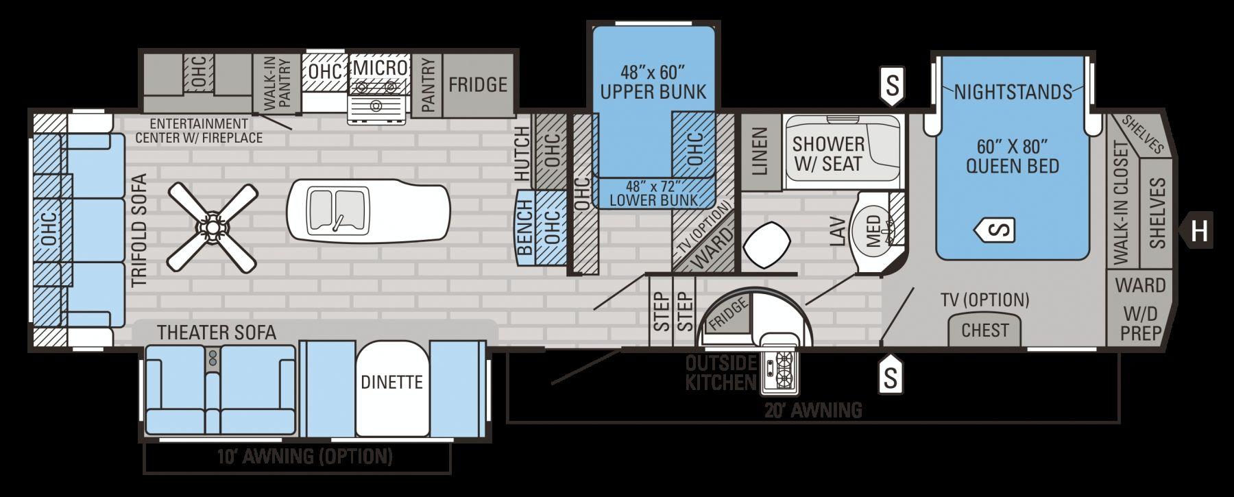 Jayco Fifth Wheel Camper Floor Plans Camper flooring