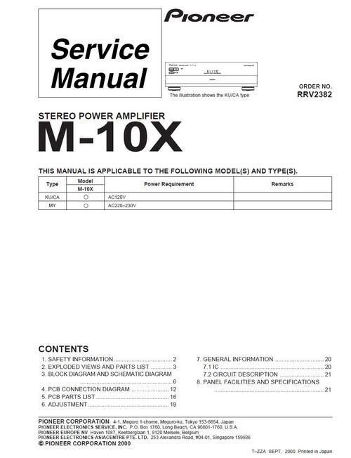 pioneer m 10x power amplifier original service manual rh pinterest com mx User ID and Password Pioneer M22