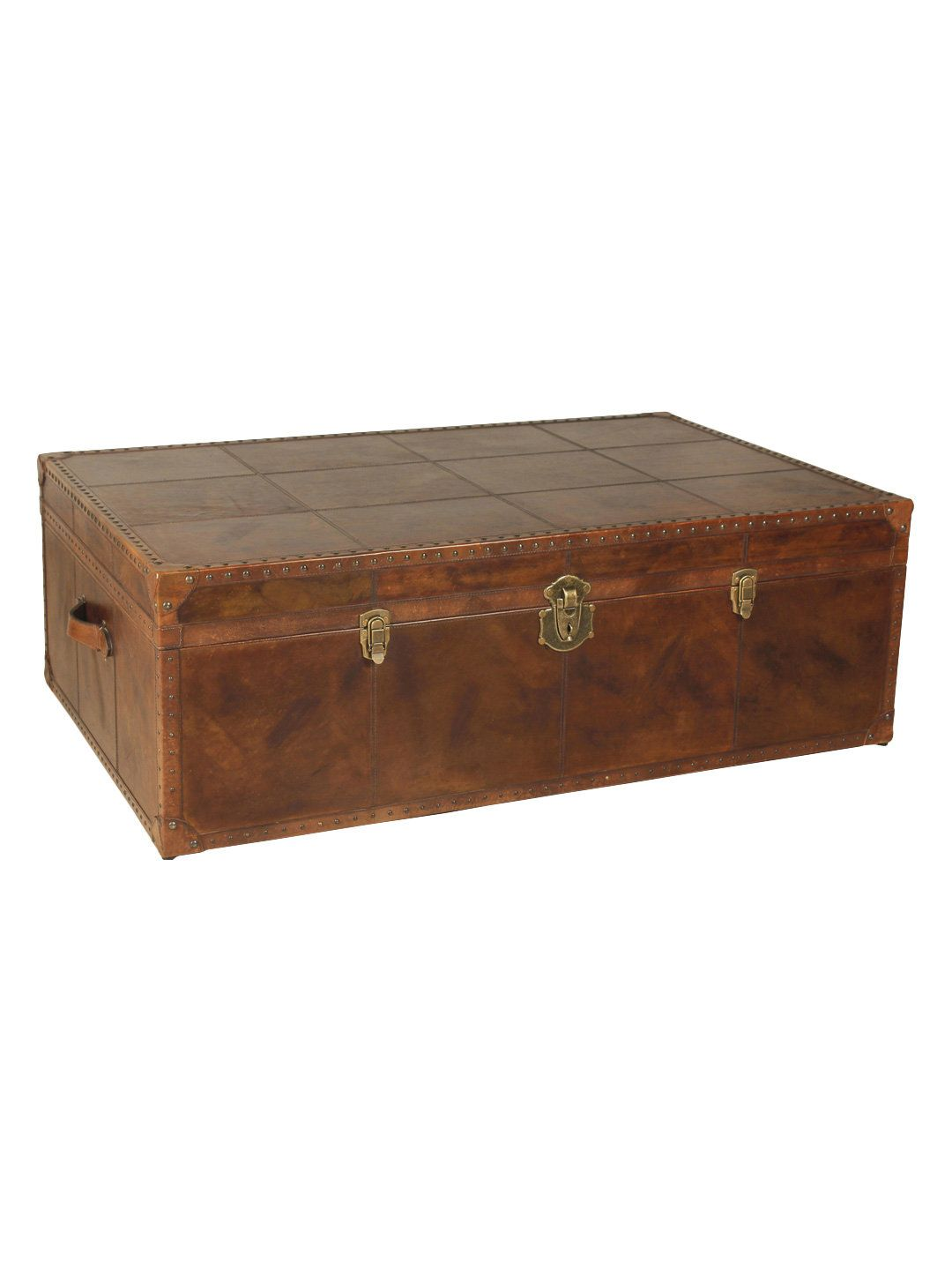 Coffee Table Trunk By Sarreid At Gilt With Images Coffee Table Trunk Leather Trunk Coffee Table Living Room Coffee Table