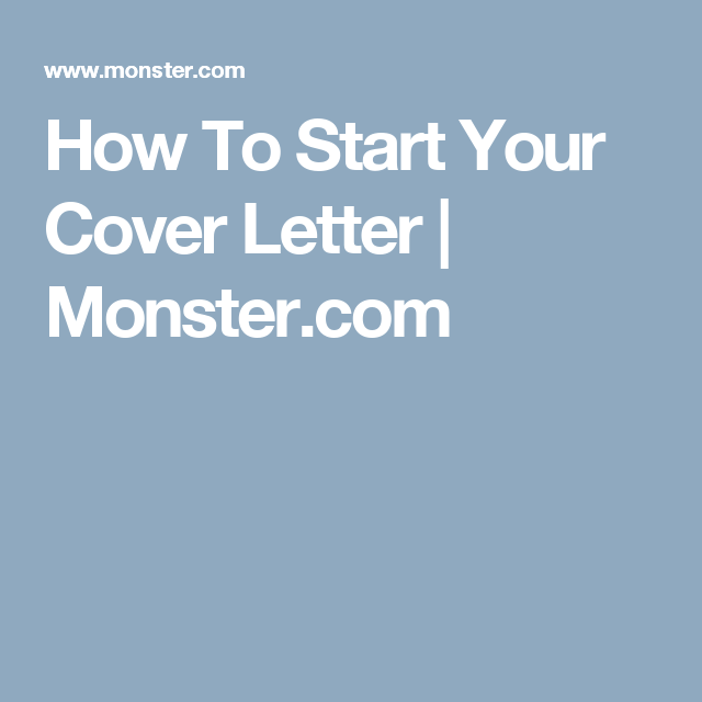 Wondering How To Start Your Cover Letter Check Out These Sample