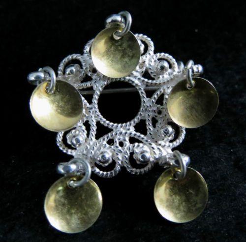 Vintage Sterling Silver Mikkelborg Solje Brooch Pin by Finn Jensen Signed 925s | eBay