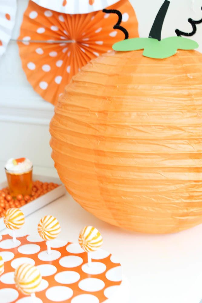 Boo Bash DIY Pumpkin Paper Lantern Paper lanterns, Halloween