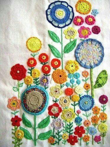 Crochet/Embroidery Hackovanie Crochet