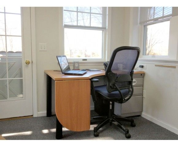 Deep Corner Home Office Desk Ideas With Custom Drop Leaf Return