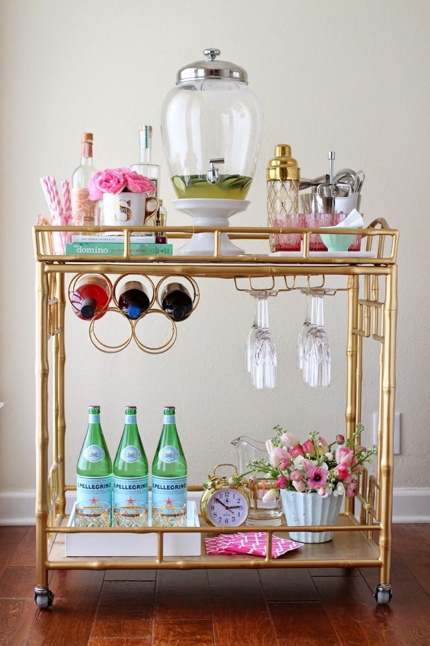 Bar Carts Home Decor Kimberkarolina Com Avec Images Style De Chariot Bar
