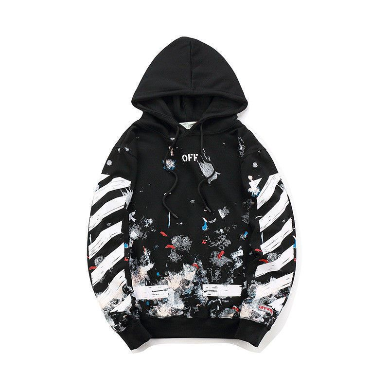 New OFF Hoodie Logo Pullover Off White Jacke Firework Arrows Galaxy Sweatshirt