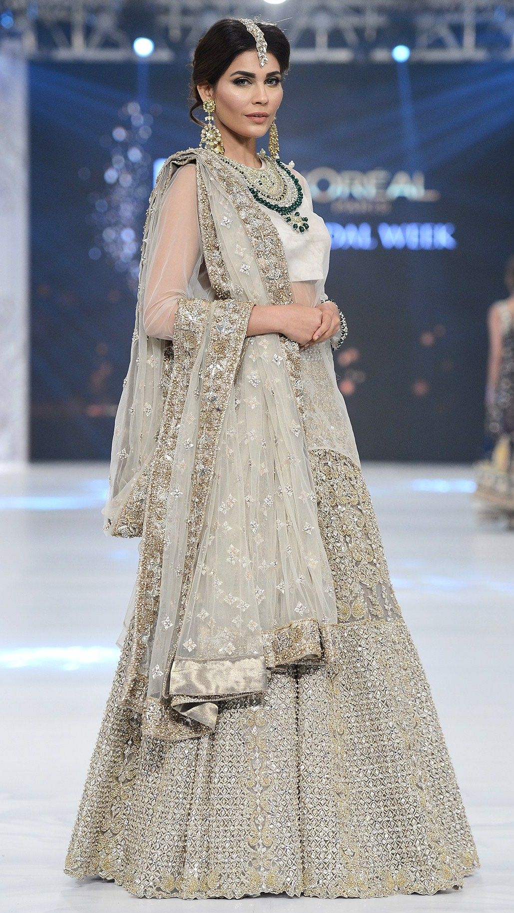 Mahgul PLBW - F/W 2016...OMG, gorgeous. Love the fabric & bridal tones. Select 1-3 details to recreate for that unique bridal look. Fabric is everything for a simple silhouette.