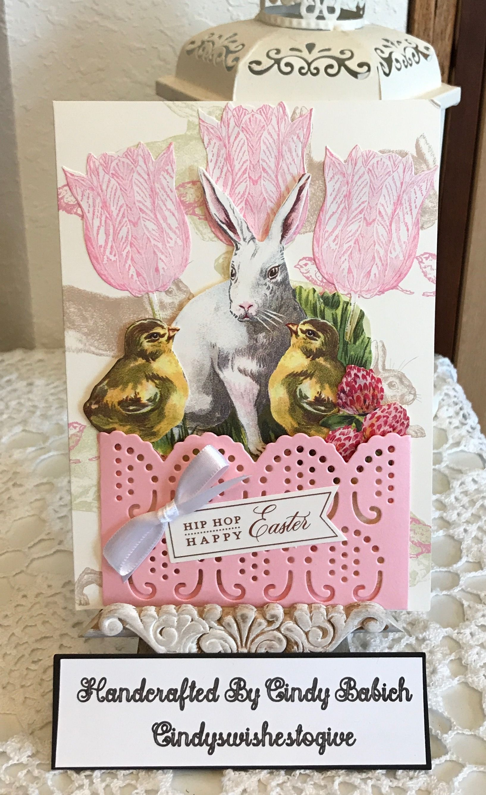 Easter bunnies and eggs die cuts for cards or scrapbook 27  pieces