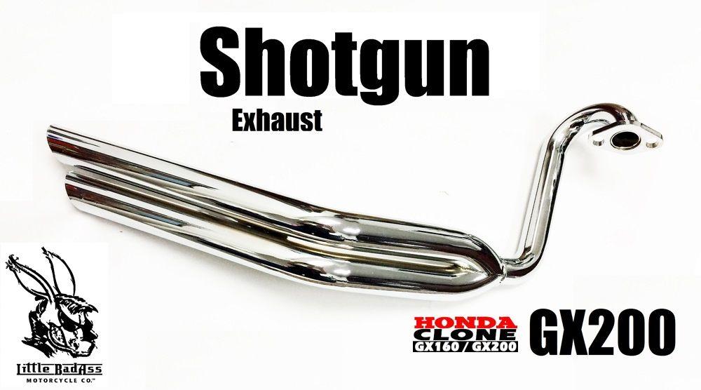 Shotgun Exhaust Header, Little BadAss, fits Honda GX200