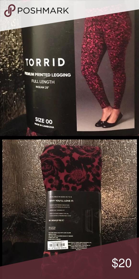 711ba435a8381 Torrid Premium Seductive Leggings Seductive edge floral leggings,wide waist  band,thicker fabric for sexier no panty lines. Size 00 (size10) torrid  Pants ...