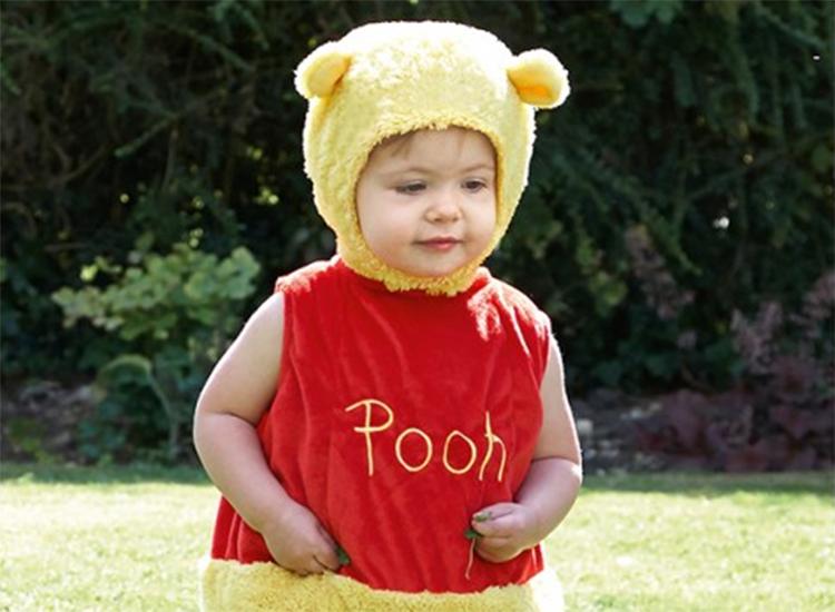 Disney Winnie the Pooh Romper With Hood Book Week Toddler Fancy Dress Outfit