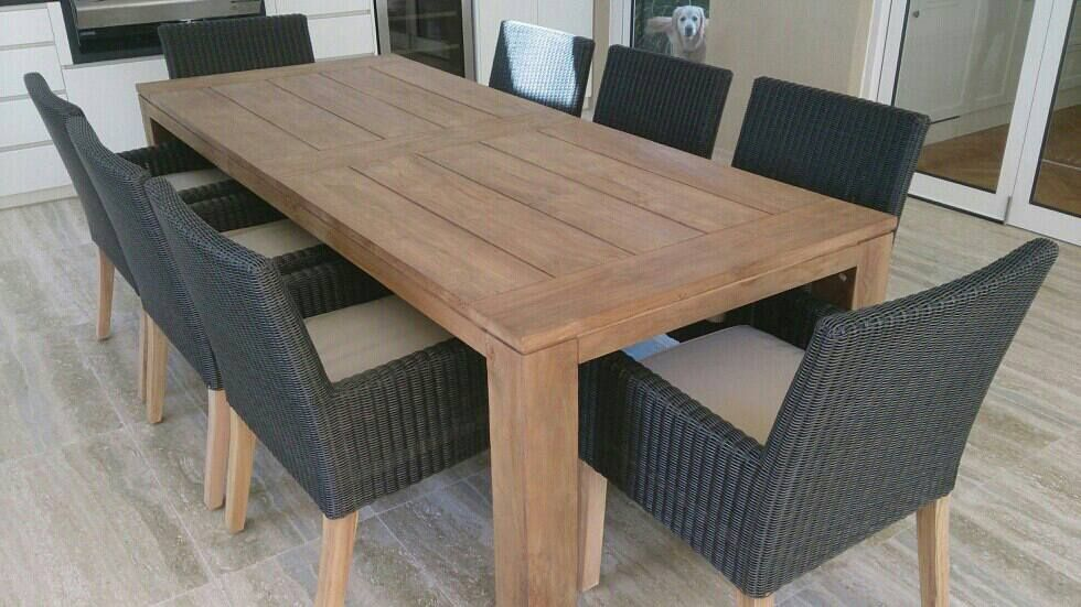 Furniture Stunning Free Outdoor Teak Dining Furniture Sample Throughout Teak  Patio Dining Table Decor