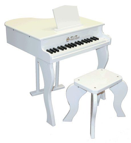 """Schoenhut 37 Key Elite Baby Grand with Bench by Schoenhut Piano Co. Inc. - DropShip. $167.99. Schoenhut's three-octave Baby Grand, with a keyboard almost half the size of an adult piano, is designed with the three-to-nine year old in mind. Not ?just a toy,"""" it is a fine musical instrument and beautiful piece of furniture as well. Lovely chime-like tones are produced by small hammers striking metal rods, the sound that makes Schoenhut toy pianos charming and unique. 37..."""