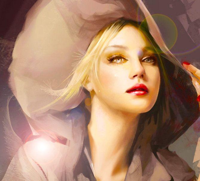 retrato de una mujer bonita wallpaper