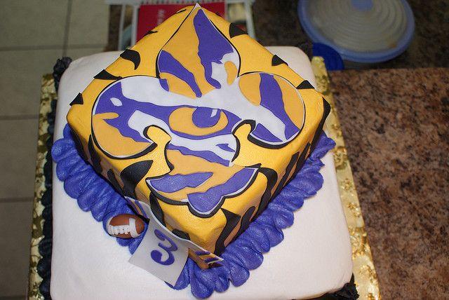 Enjoyable Birthday Cake For Lsu 7 Nice Lsu Cakes Cake Decoration Idea Personalised Birthday Cards Veneteletsinfo
