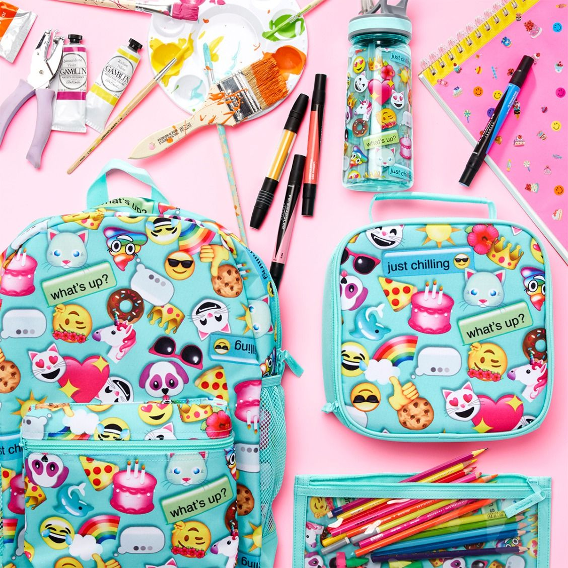 Girls  fashion   Kids  clothes   Backpack   Lunchbox   Pencil holder    Water bottle   Camp style   The Children s Place 0c273c9e70