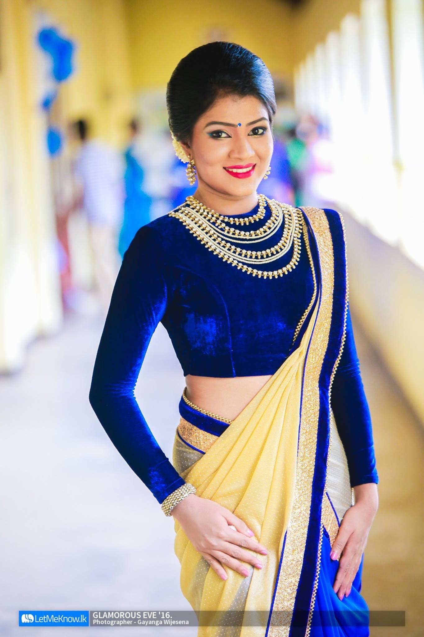 a34d0ee1e0 Sri Lankan Fashion Saree Draping Styles, Saree Styles, Saree Jackets, Saree  Blouse Patterns