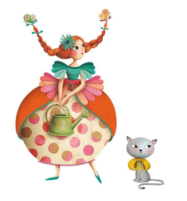 princesse-chat by Marie Desbons | Illustration Inspiration | Pinterest